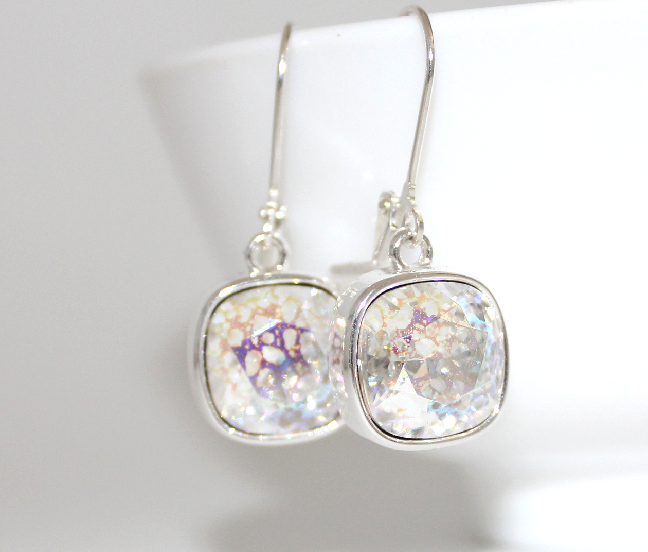 5ee0c950ab1c Amazing white patina swarovski cushion lever back earrings jpg 1260x1072 Crystal  white patina